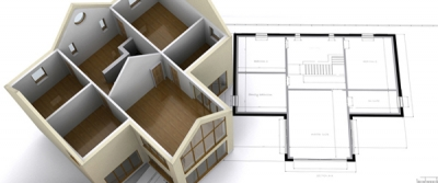House with Floorplan