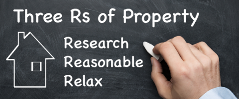 Research, Reasonable, Relax, the three R's of property