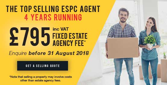 £795 including VAT Fixed Estate Agency Fee, Enquire before 31st August 2018