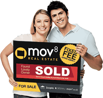 Couple with MOV8 For Sale Board SOLD Sign
