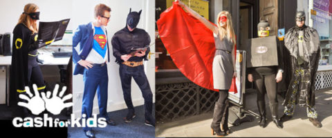 Cash for kids superhero day