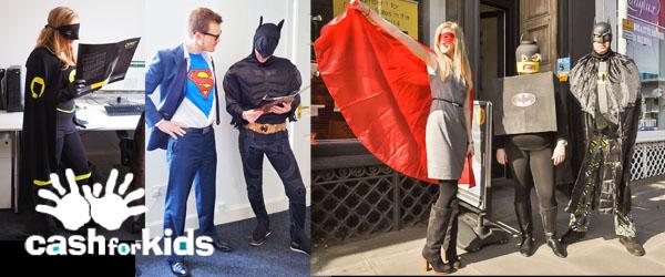 Cash for kids superhero day