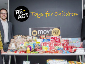 The MOV8 Team Play a Small Part in the RE-ACT Toys For Children Campaign