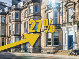 Edinburgh New Town and West End House Price Up 27%