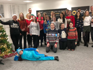 MOV8 Christmas Jumper Day for Edinburgh Children's Hospital Charity