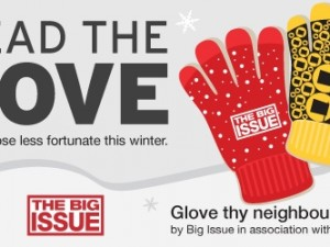 Spread the Glove – Please Help MOV8 to Help Vendors of The Big Issue this Winter